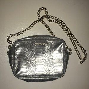 Victoria's Secret metallic chain purse silver